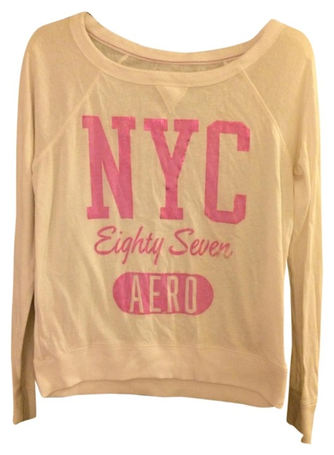 Aéropostale T Shirt White & Pink