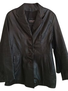 Wilsons Leather black Leather Jacket