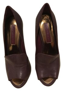 BCBGMAXAZRIA Open Toe Burgundy Pumps
