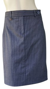 Michael Kors Gray Pinstripe Pencil Skirt Gtay