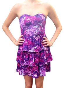 Kimchi Blue short dress Purple Floral on Tradesy