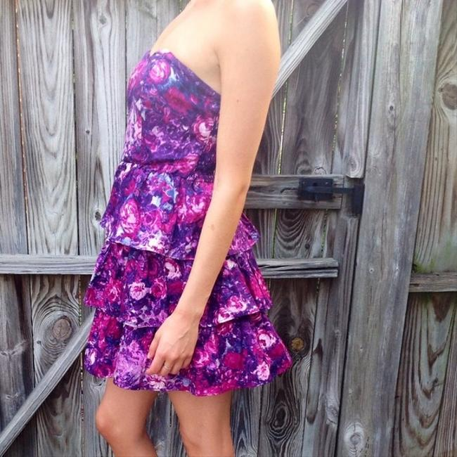 Kimchi Blue short dress Purple Floral Urbanoutfitters on Tradesy