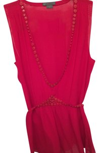A|X Armani Exchange Studded India Designer Top Red