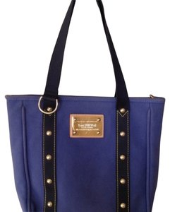 2611de54caad Louis Vuitton Antigua Cabasas Mm Blue Thick Canvas Tote - Tradesy