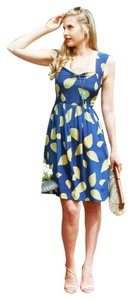 Anthropologie short dress Blue Anthro Silk on Tradesy