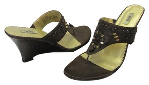 Metro 7 Size 7.50 M Very Good Condition Brown Wedges
