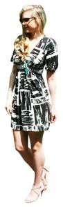 BCBGMAXAZRIA short dress Black and White Bcbg Stretch on Tradesy