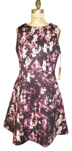 JLo Floral Classic Structured Bold Gold Hardware Dress