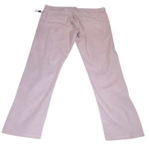 Gap Tailored Skinny Crop Narrow Capri/Cropped Pants light tan and white stripped