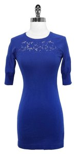 Karen Millen short dress Cobalt Blue Cotton on Tradesy