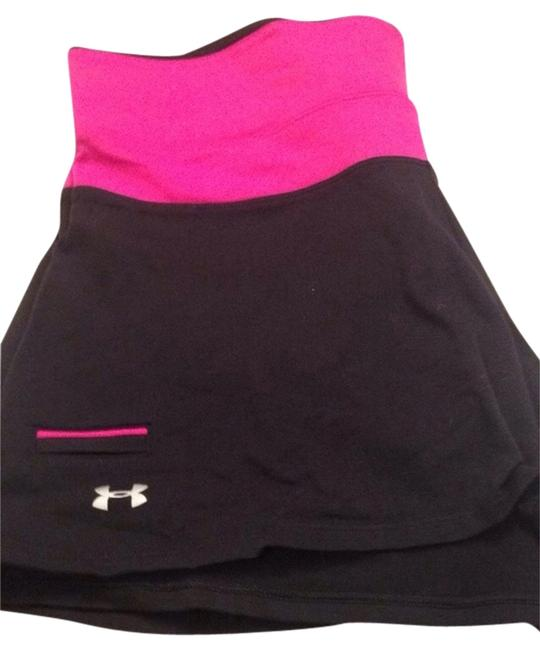 Under Armour Black/Pink Activewear Bottoms Size 12 (L, 32, 33) Under Armour Black/Pink Activewear Bottoms Size 12 (L, 32, 33) Image 1