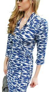 Laundry by Shelli Segal Wrap Blue Dress