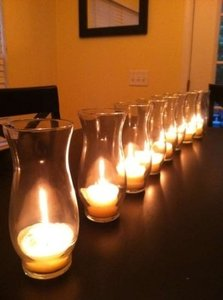 Glass 40 - 6.5in Hurricane Glasses Votive/Candle