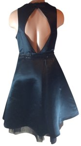 Vera Wang Party Open Beaded Satin Dress