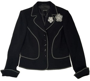 Escada Embroidery Black Blazer