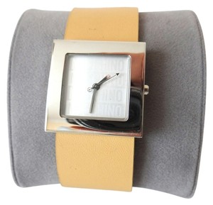 Moschino NEW SOLID STEEL MOSCHINO TIME FOR PEACE QUARTZ WATCH
