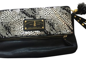 Christian Audigier Black With Silver Clutch