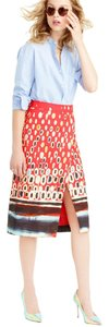 J.Crew Collection 00 Skirt Red water color