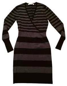 Ann Taylor LOFT Sweater Sheath V-neck Dress