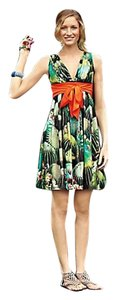 Eva Franco short dress green, orange, turquoise, yellow Fun Eclectic Statement on Tradesy