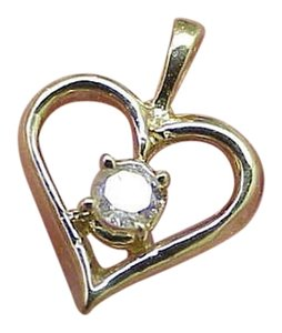 Other Estate Vintage 14k Yellow Gold Genuine .25ct Solitaire Diamond Pendant, Beautiful Piece