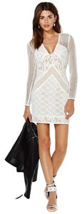 Bless'ed are the Meek Ivory Nude Lace Cotton Dress