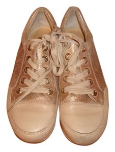 Paul Green Sneakers Gold Metallic/Taupe Leather Athletic