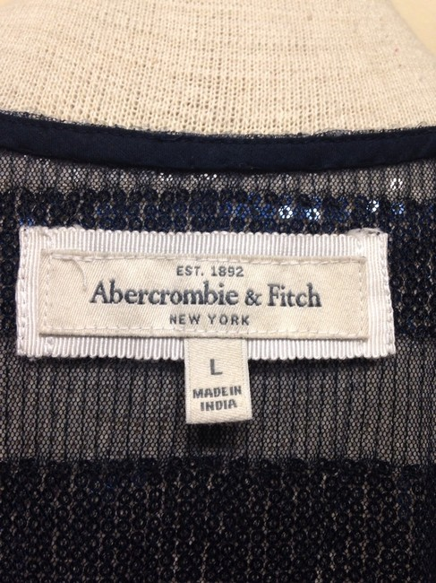 Abercrombie & Fitch Top Navy Blue/ Light Blue