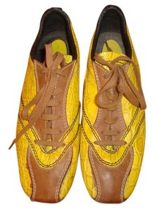 Bottega Veneta Bright Yellow Moc Croc Athletic