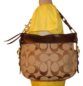 Coach Shoulder Canvas Hobo Bag