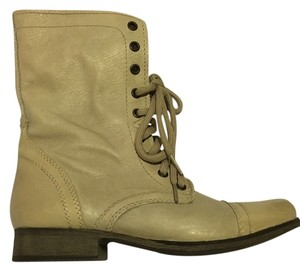 Steve Madden Leather Cream Boots