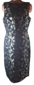 Talbots Metallic Floral New Dress