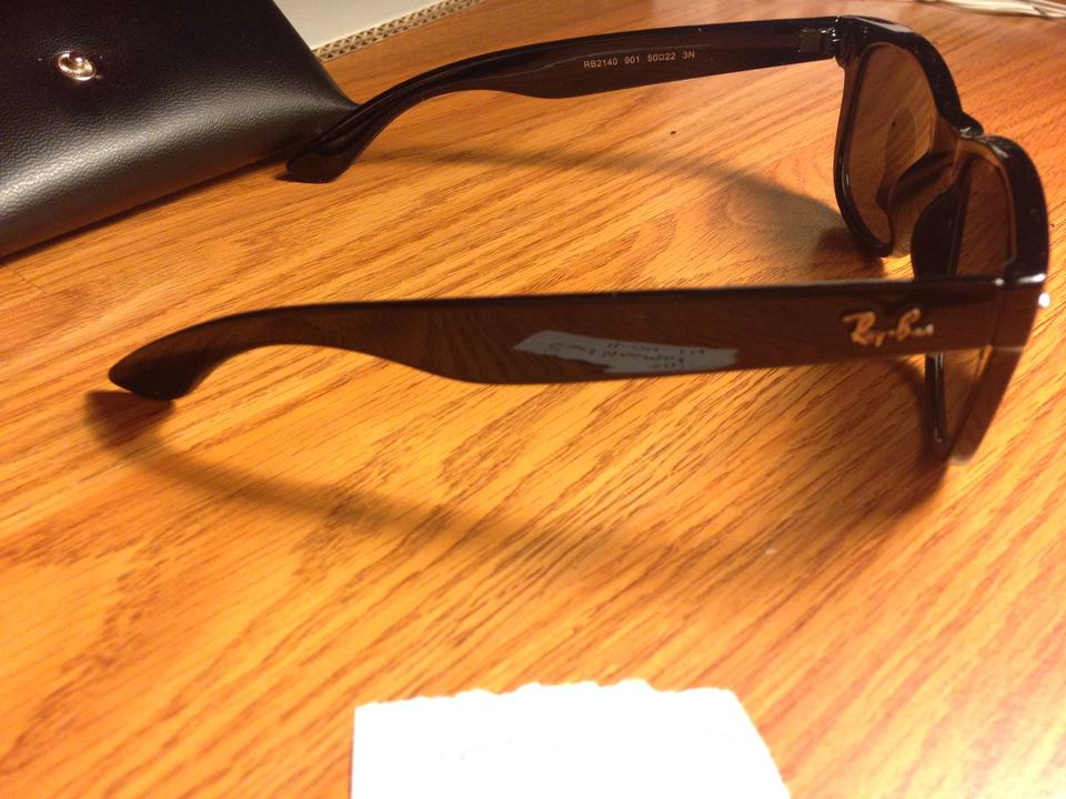 bdafa40b50f6b ... Rayban Wayfarer sunglasses rb2140 Black like new 52mm Image 5. 123456