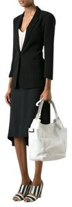 Jimmy Choo Anna Leather Tote in White