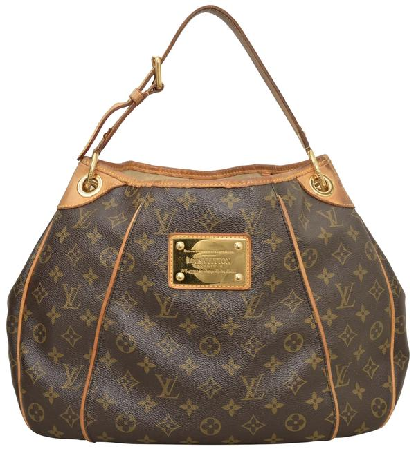 Louis Vuitton Hobo Galliera Pm Canvas Brown Monogram Leather Shoulder Bag Louis Vuitton Hobo Galliera Pm Canvas Brown Monogram Leather Shoulder Bag Image 1