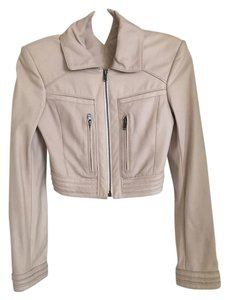 Theory Ivory Leather Jacket