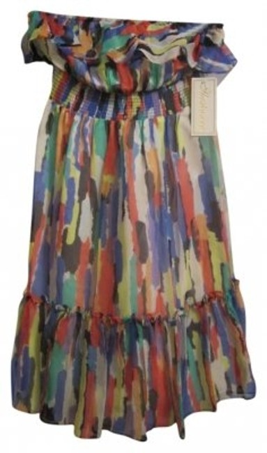 Shoshanna short dress Multi Multicolored Beach Cover-up Strapless on Tradesy