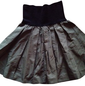 Miu Miu Skirt Black, Olive Green