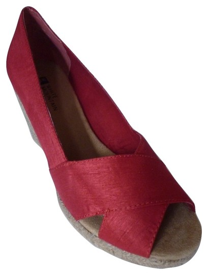 White Mountain Wedge Red Sandals