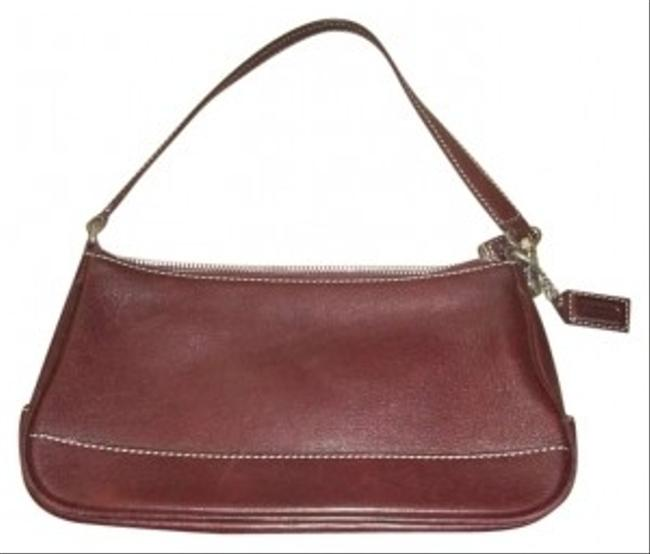 Coach Wristlet Burgundy Leather Baguette Coach Wristlet Burgundy Leather Baguette Image 1