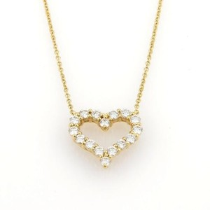 Tiffany & Co. Tiffany Co. 1ct Diamonds 18k Yellow Gold Heart Pendant Chain Necklace