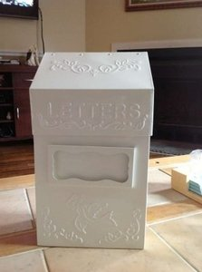 Antique White Vintage Inspired Letter Box Other