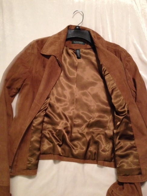 Ralph Lauren Camel Leather Jacket
