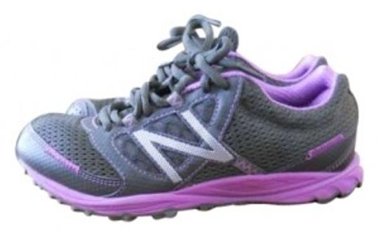 New Balance gray/purple Athletic