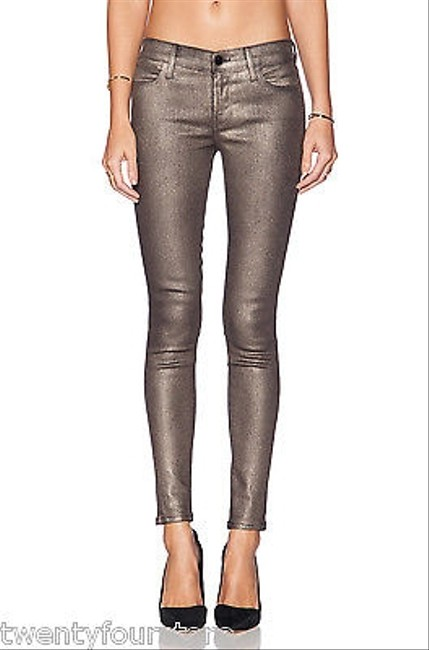 Item - Gold Coated Mid-rise Super Skinny Jeans Size 25-2-xs