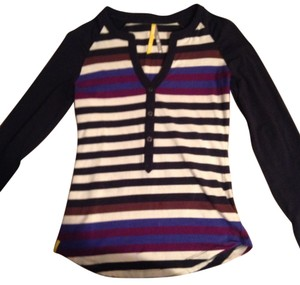 Lolë Top Navy, Purple, Off White
