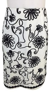Tribal Womens Stretch Skirt black and white