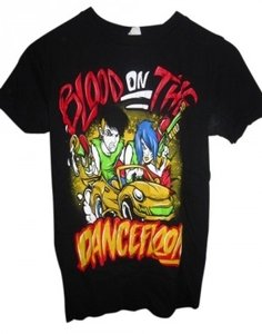 Hot Topic T Shirt Black red yellow green