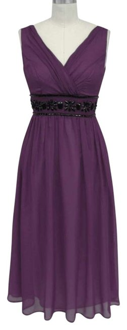 Preload https://img-static.tradesy.com/item/140874/purple-beaded-waist-cocktail-mid-length-formal-dress-size-26-plus-3x-0-0-650-650.jpg