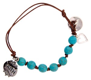 PrivateBelle Hand Knotted Turquoise Beads Blessed Bracelet